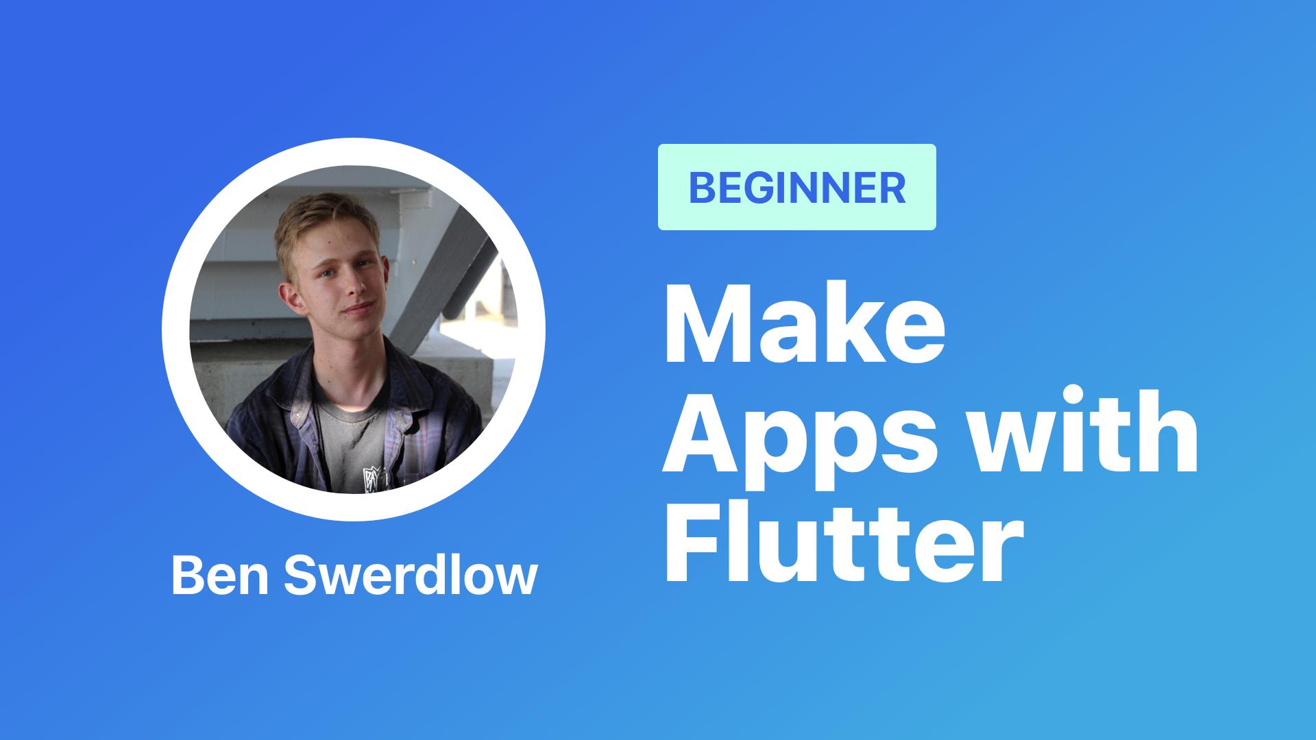 make apps with flutter